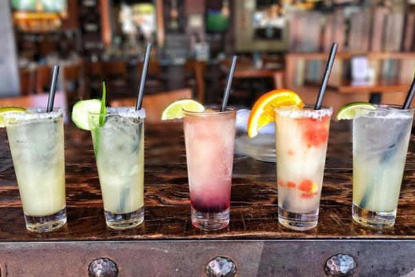 Z'Tejas Southwest Grill - Margarita line-up
