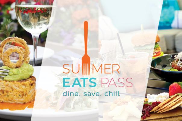 Food plated with Summer Eats Pass logo