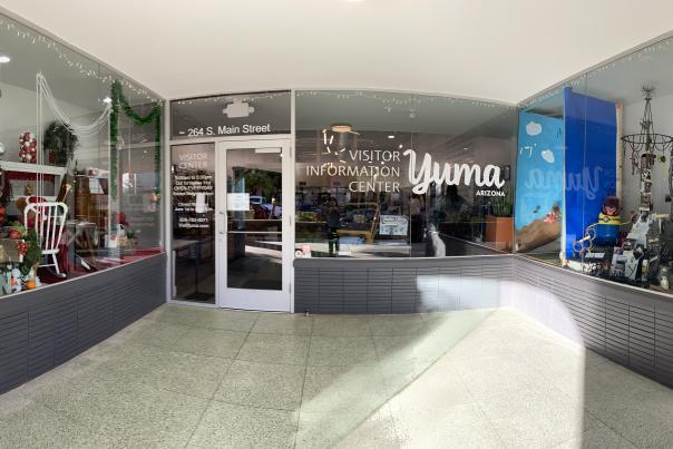 Window Wonderland 2020 at Yuma's Visitor Information Center
