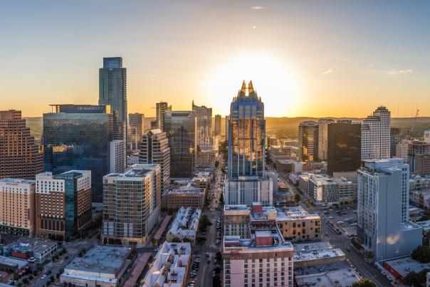 Austin Skyline Panoramic from East. Credit Joseph Haubert_expires 10-1-2020