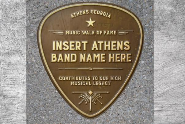 Athens Music Walk of Fame Plaque Banner