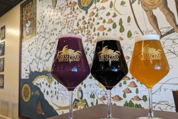 Chesepiooc Real Ale Brewery  Trio of Beers