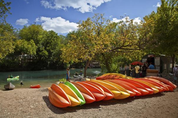 Kayaks on Lady Bird Lake