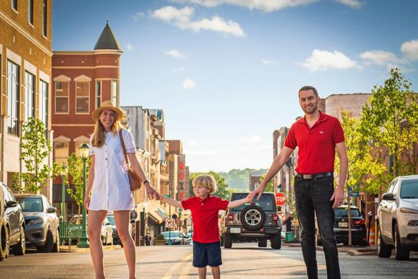 family in downtown clarksville
