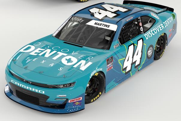 Discover Denton NASCAR No. 44 Chevrolet Camaro