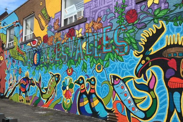 Street art in Toronto's Roncesvalles Village