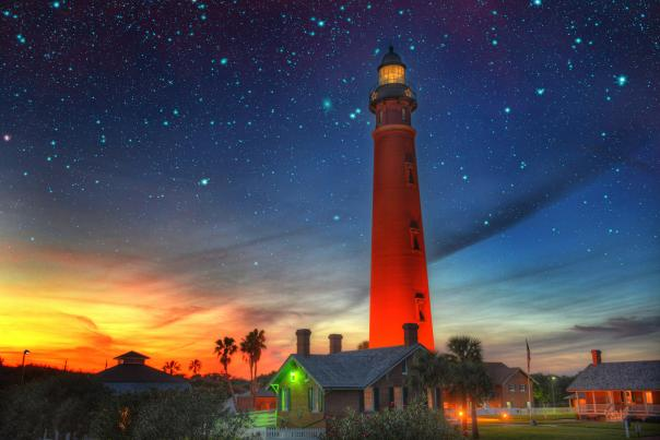 A starry view of Ponce Inlet Lighthouse