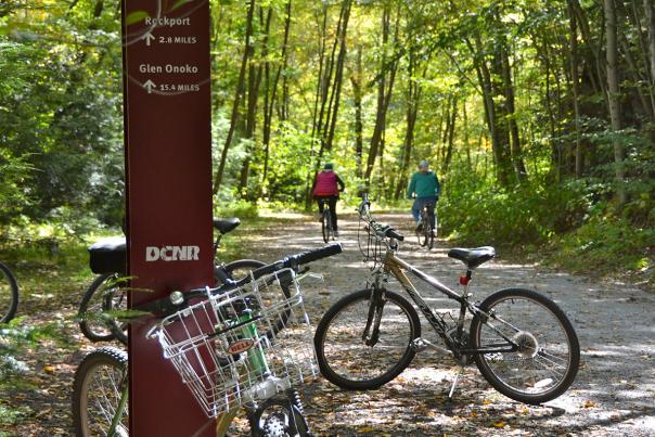 Biking in Delaware Water Gap