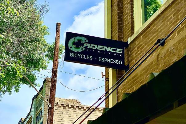 Cadence Cyclery Sign