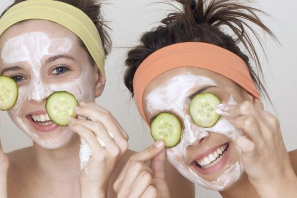 Spa Face Masks & Cucumbers