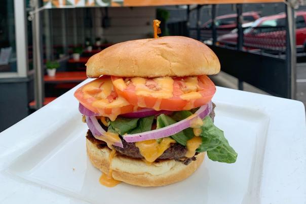 24 Diner Burger. Courtesy of ELM Restaurant Group.