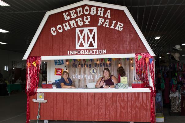 information booth at Kenosha County Fair