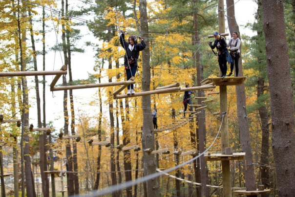 Boundless Adventures - Plank High Ropes Course In Fall