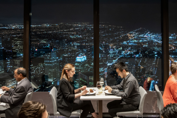 The 360 restaurant at the CN Tower
