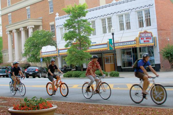 Bikers Downtown Milledgeville