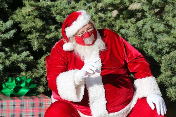 Santa at Bradley Fair in Wichita for the Holidays 2020