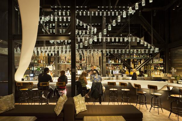 The Forbidden Lounge bar at Morimoto Asia restaurant in Disney Springs