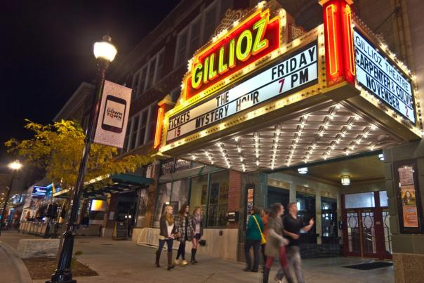 Gillioz Theater at Night Street View