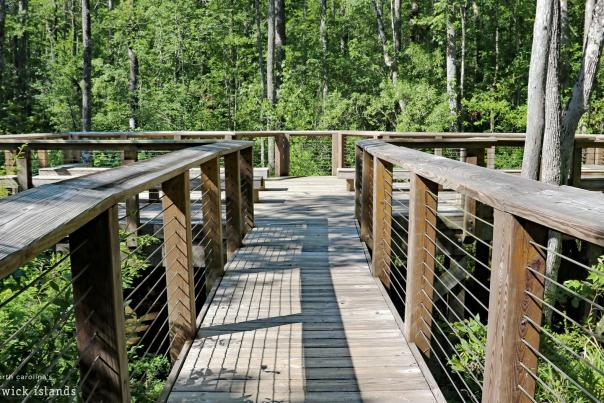 Hiking trail at Westgate Park in Leland, NC.