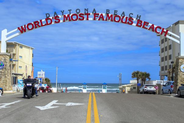 Worlds Most Famous Beach sign