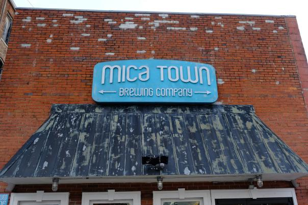 Mica Town Brewing - Sign