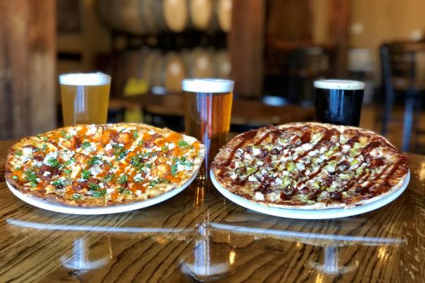 Pizza Pair and Beer Trio from River City Brewing Co.