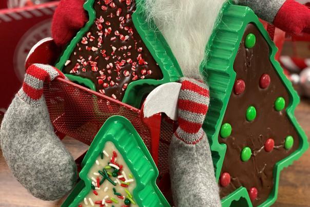 The Fudge Kettle Grab and Go Fudge Christmas trees