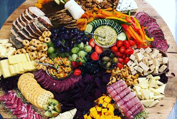 photo of Inspirations Catering & Gourmet Shop food tray spread