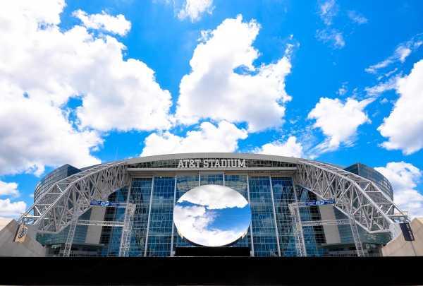 Sky mirror AT&T Stadium