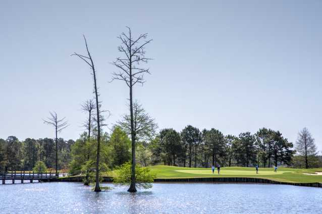 Hole number 8 at Crow Creek Golf Club in Calabash NC