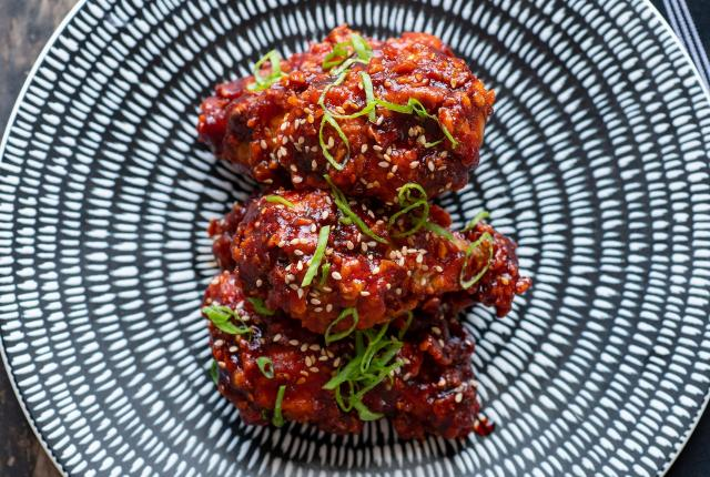 Red Chile Glazed Chicken Wings, Bar Castaneda, Las Vegas