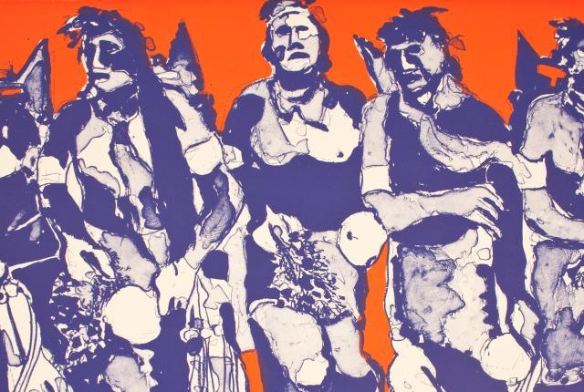 Hopi Dancers (State I), 1974, by Fritz Scholder