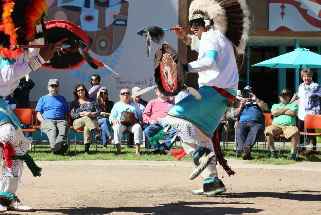 Native dances at the Indian Pueblo Cultural Center