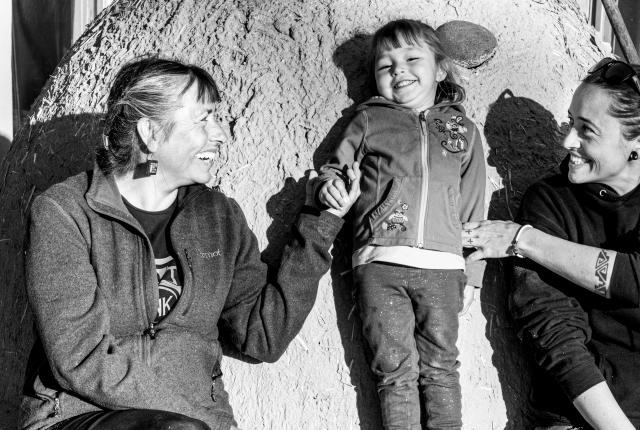 My Mother The Builder, Roxanne Swentzell, Rose Simpson, New Mexico Magazine