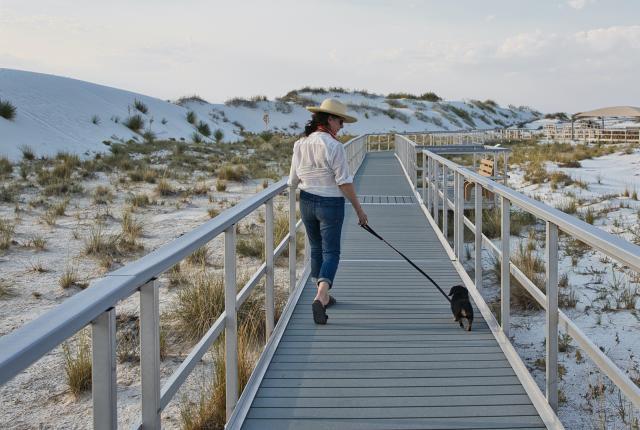Boardwalk at White Sands National Monument