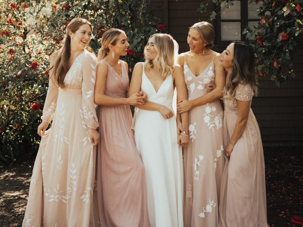 BHLDN in Napa Valley Bridal Party Wedding