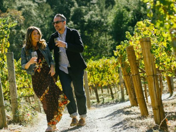 Couple in a Napa Valley Vineyard