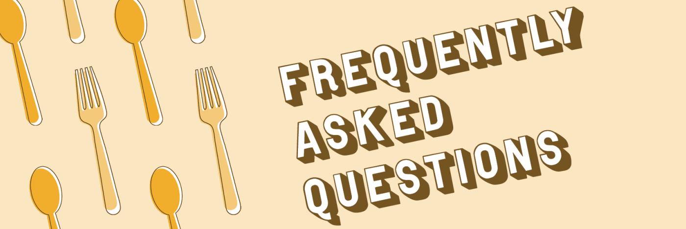 Banner for Bloomington Restaurant Week saying Frequently Asked Questions