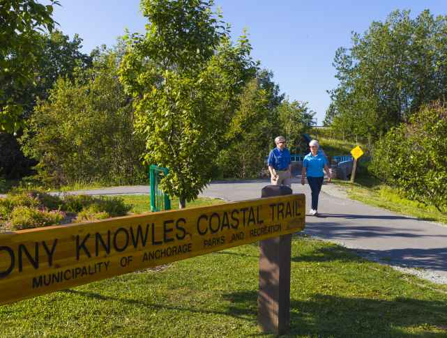 walking trails of Anchorage include the Coastal Trail