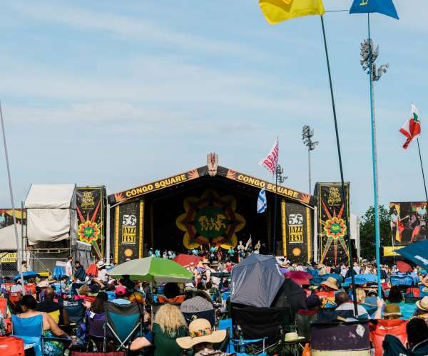 Congo Square Stage at Jazz Fest