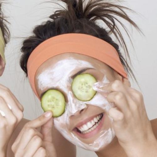 Spa Face Masks & Cucumbers