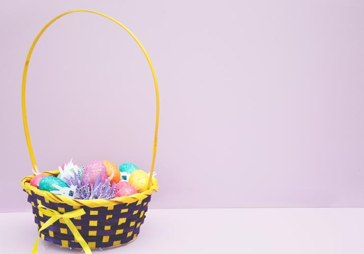 Easter basket filled with goodies