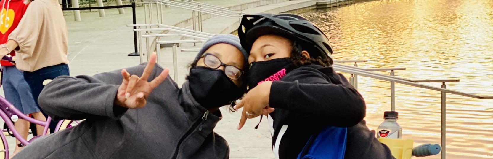 Two Kids Enjoying Spindletop Cruiser Bike Tours In Beaumont, TX