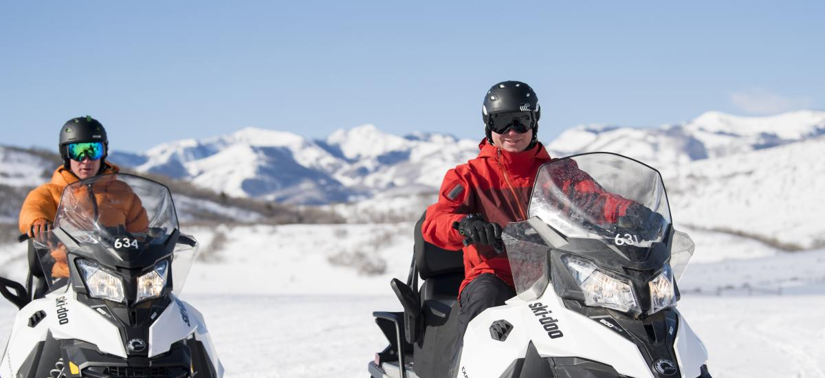 Snowmobiling in the Uinta Mountains