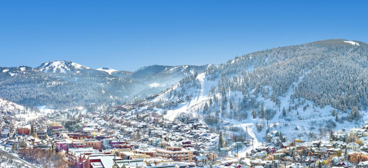 View of Park City in the Winter