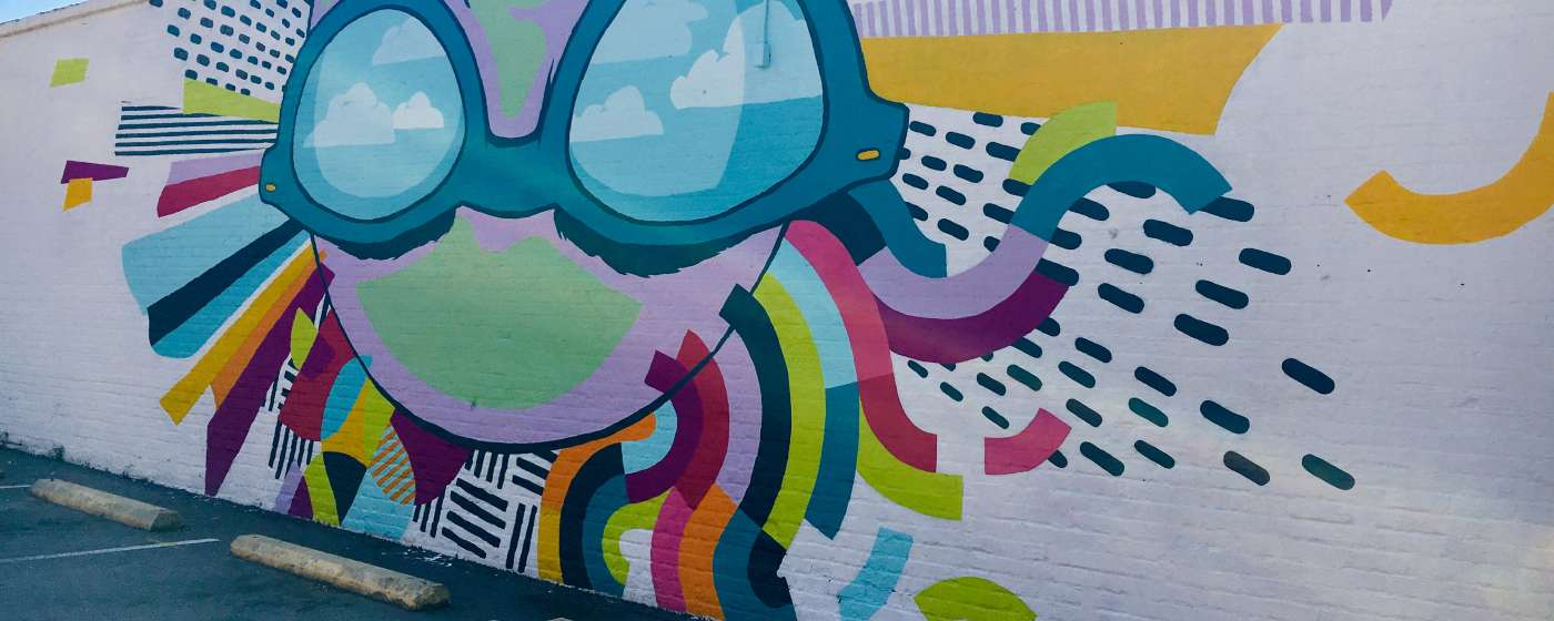 Cait Maloney Mural in the Vista Neighborhood of Columbia SC