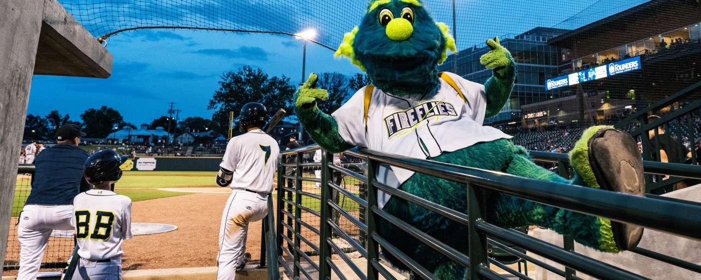 Fireflies Mascot Mason