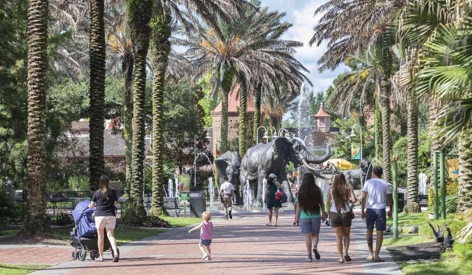Audubon Zoo Elephant Fountain