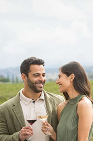Couple in the vineyards