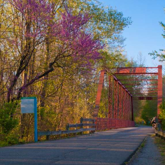 Clear Creek Trail during spring